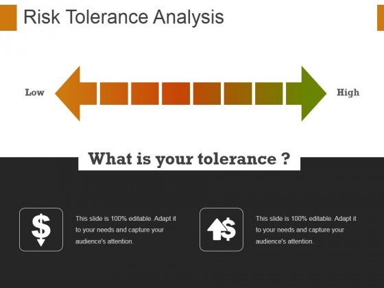 Risk Tolerance Analysis Template 1 Ppt PowerPoint Presentation Infographic Template Guidelines