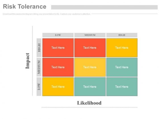 Risk Tolerance Matrix Ppt Slides