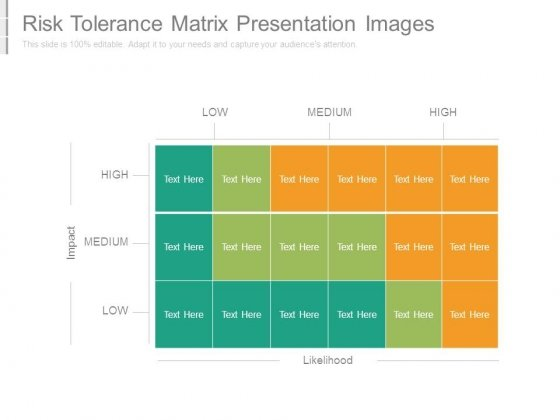 Risk Tolerance Matrix Presentation Images