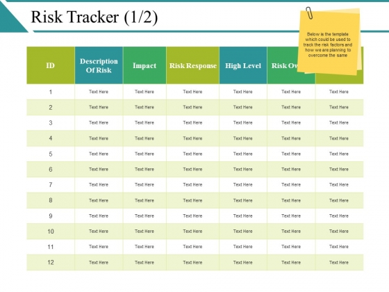 Risk Tracker Template Ppt PowerPoint Presentation Gallery Samples