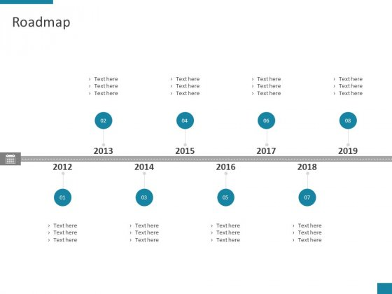 Roadmap 2012 To 2019 Ppt PowerPoint Presentation Styles Slides