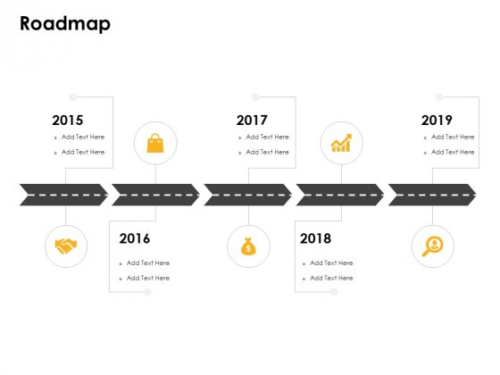 Roadmap 2015 To 2019 Years Ppt PowerPoint Presentation Portfolio Background Designs