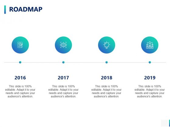 Roadmap 2016 To 2019 Ppt PowerPoint Presentation Show Ideas