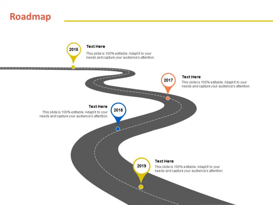 Roadmap 2016 To 2019 Years Ppt PowerPoint Presentation Infographic Template Icon