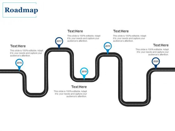 Roadmap 2016 To 2020 Ppt PowerPoint Presentation Portfolio Themes