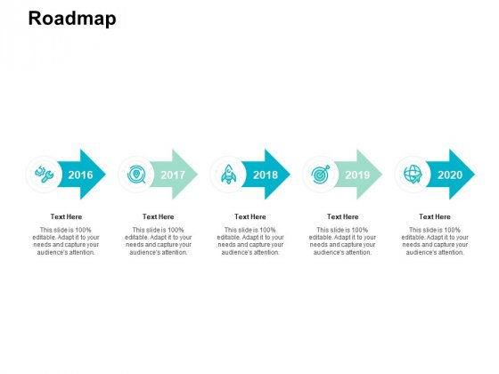 Roadmap 2016 To 2020 Ppt PowerPoint Presentation Summary Influencers