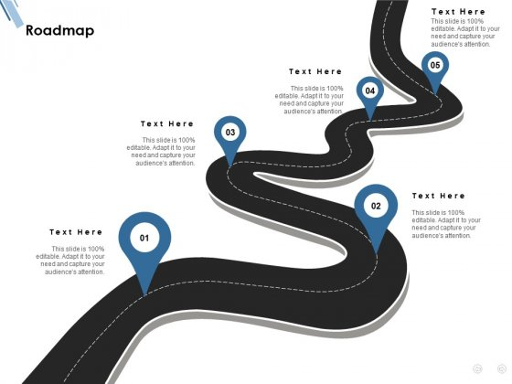 Roadmap Five Process Ppt PowerPoint Presentation Slides Outline