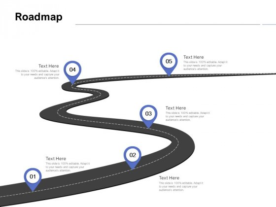 Roadmap Five Stage Ppt PowerPoint Presentation File Deck