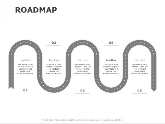 Roadmap Five Stage Ppt PowerPoint Presentation Model Icon