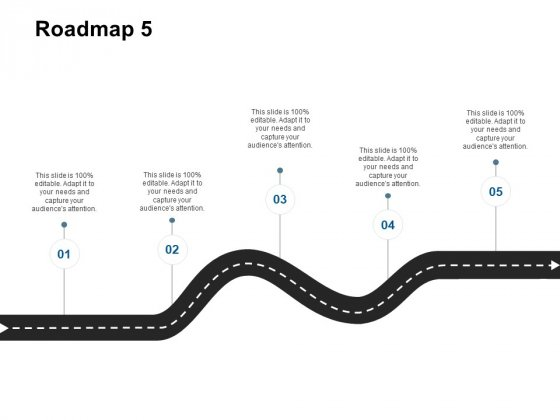 Roadmap Five Stage Ppt Powerpoint Presentation Styles Deck