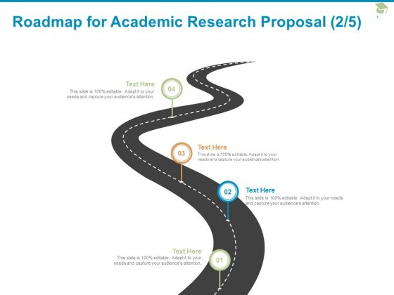 Roadmap For Academic Research Proposal Four Stage Ppt PowerPoint Presentation File Demonstration