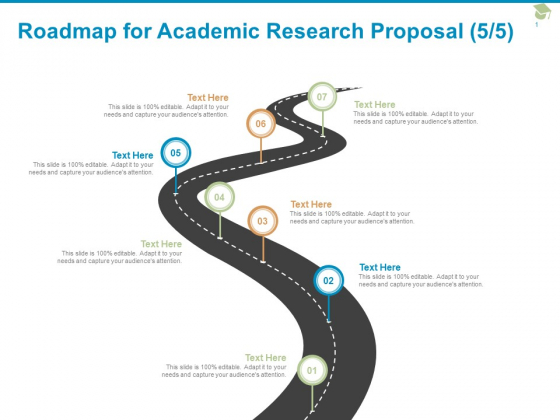 Roadmap For Academic Research Proposal Seven Stage Ppt PowerPoint Presentation Layouts Slide Download