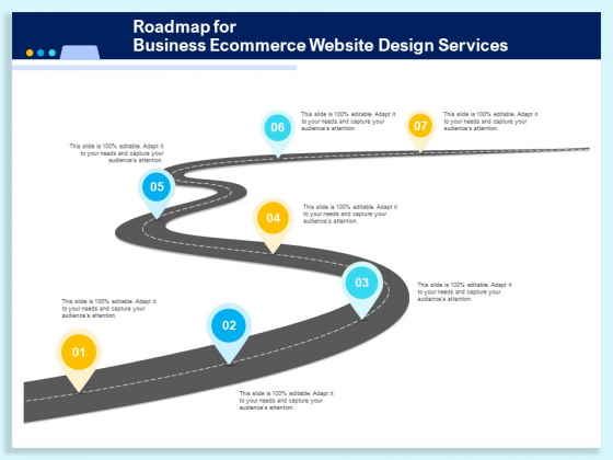 Roadmap For Business Ecommerce Website Design Services Ppt PowerPoint Presentation Infographics Icons PDF