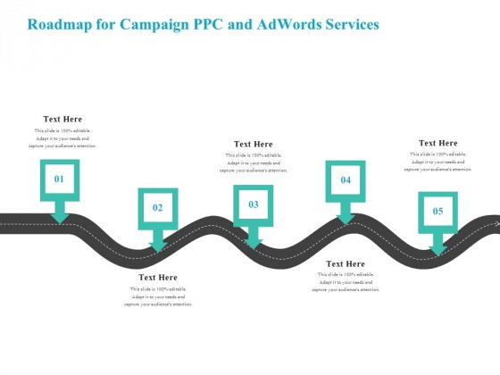 Roadmap For Campaign PPC And Adwords Services Background PDF