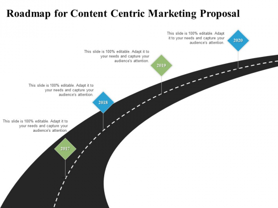 Roadmap For Content Centric Marketing Proposal Ppt PowerPoint Presentation Model Information