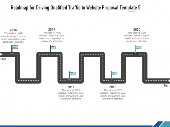 Roadmap For Driving Qualified Traffic To Website Proposal Template Five Flow Process Ppt Summary Templates PDF