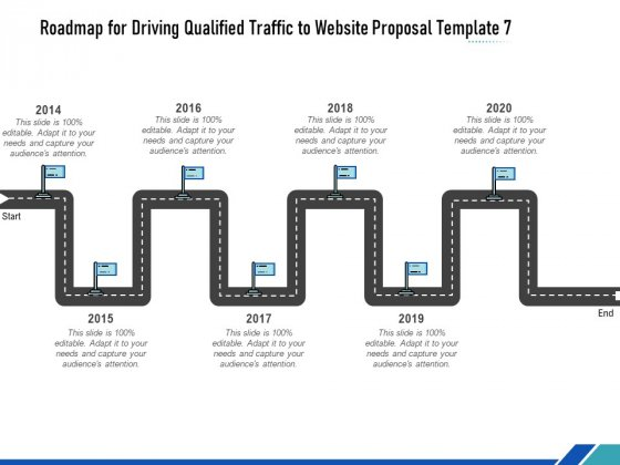 Roadmap For Driving Qualified Traffic To Website Proposal Template Seven Flow Process Ppt Ideas Example File PDF