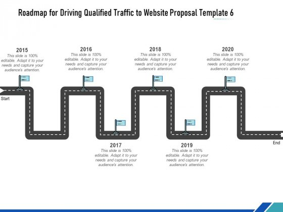 Roadmap For Driving Qualified Traffic To Website Proposal Template Six Flow Process Ppt Inspiration Show PDF