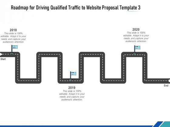 Roadmap For Driving Qualified Traffic To Website Proposal Template Three Flow Process Ppt Show PDF