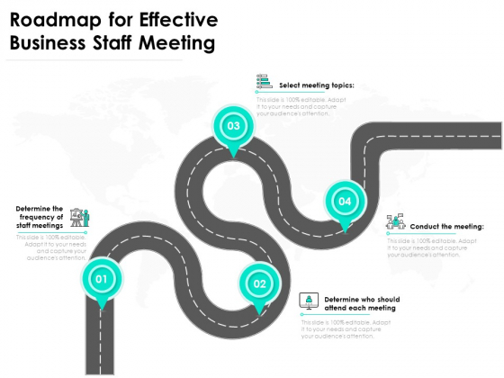 Roadmap For Effective Business Staff Meeting Ppt PowerPoint Presentation Gallery Guide PDF