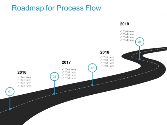 Roadmap For Process Flow 2016 To 2019 Ppt PowerPoint Presentation Professional Tips