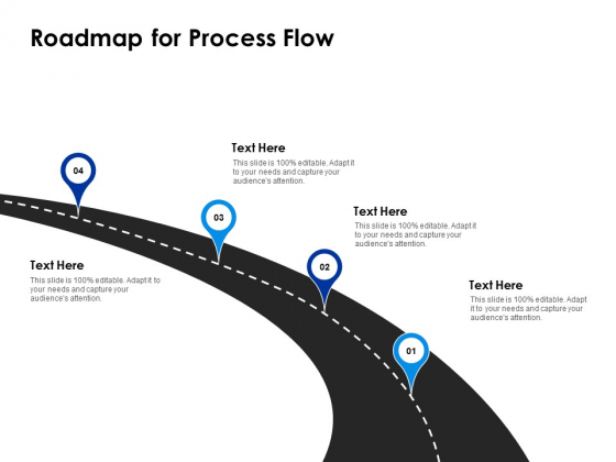 Roadmap For Process Flow Four Location Ppt PowerPoint Presentation Professional Portrait