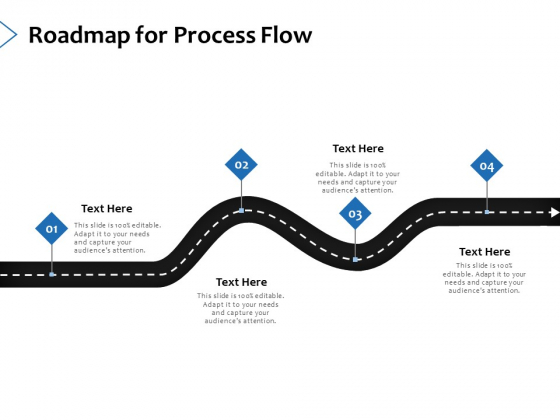 Roadmap For Process Flow Ppt PowerPoint Presentation Ideas Background Image