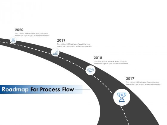 Roadmap For Process Flow Ppt PowerPoint Presentation Infographics Brochure
