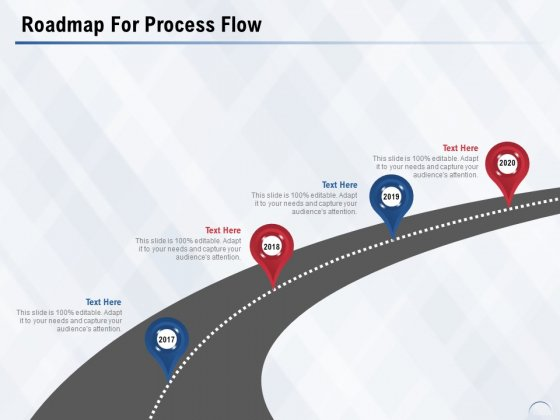Roadmap For Process Flow Ppt PowerPoint Presentation Introduction