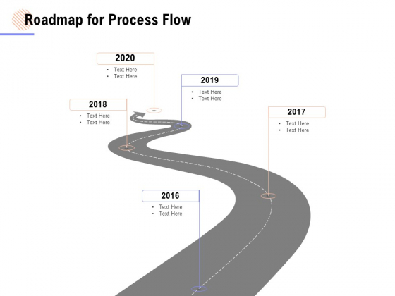 Roadmap For Process Flow Ppt PowerPoint Presentation Model Format Ideas