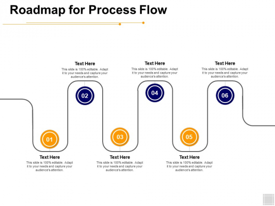 Roadmap For Process Flow Ppt PowerPoint Presentation Model Vector
