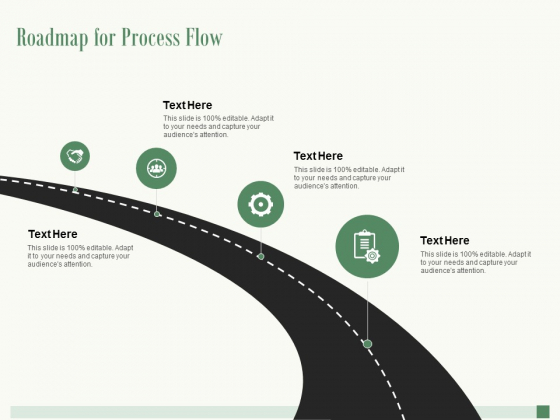 Roadmap For Process Flow Ppt PowerPoint Presentation Outline Display