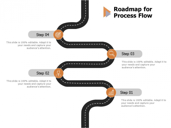 Roadmap For Process Flow Ppt PowerPoint Presentation Portfolio Mockup