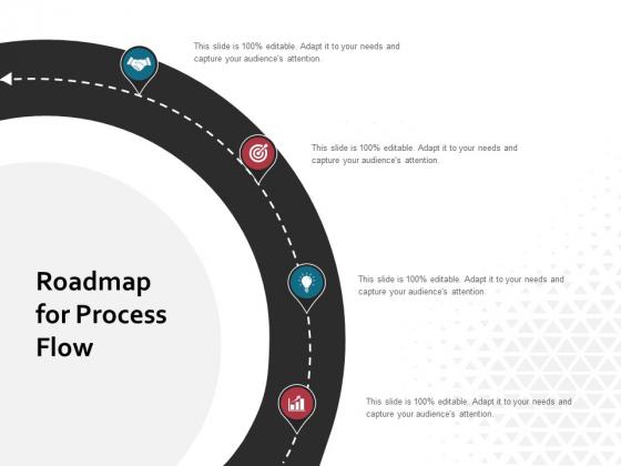 Roadmap For Process Flow Ppt PowerPoint Presentation Summary Smartart