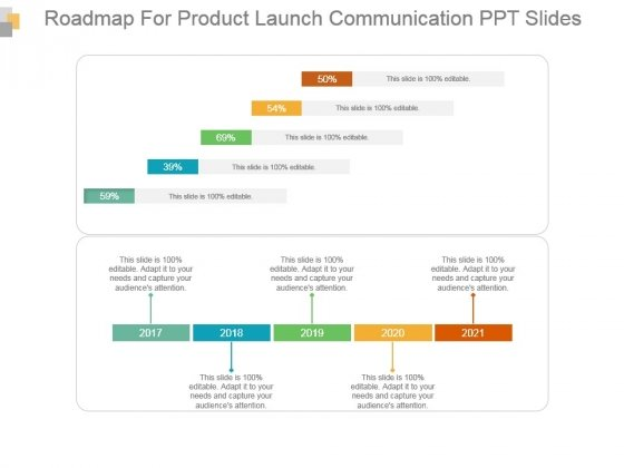 Roadmap For Product Launch Communication Ppt Slides