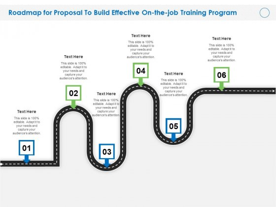 Roadmap For Proposal To Build Effective On The Job Training Program Ppt File Structure PDF