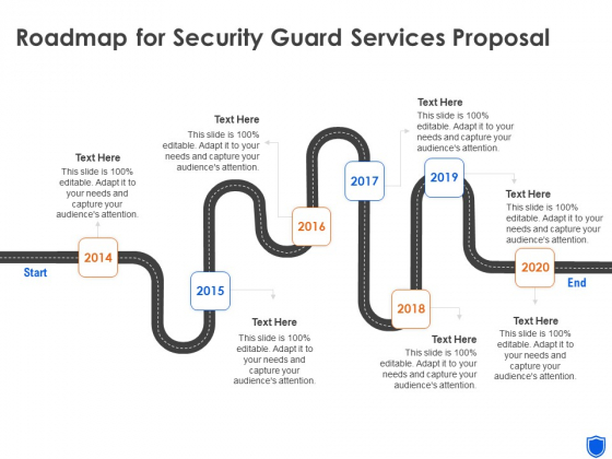 Roadmap For Security Guard Services Proposal Ppt Icon Graphic Images PDF