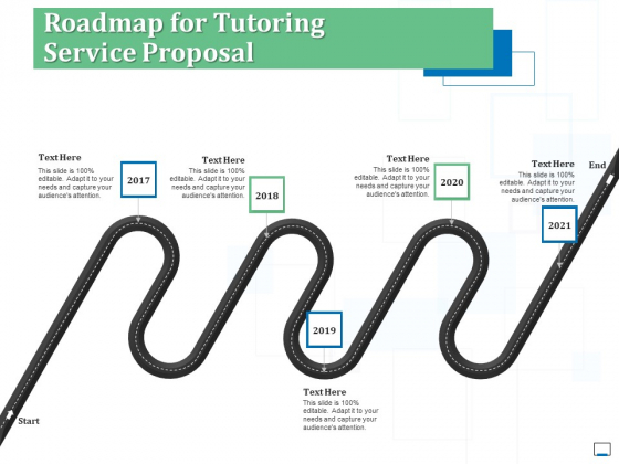 Roadmap For Tutoring Service Proposal Ppt Infographics Guide PDF