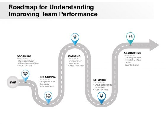 Roadmap For Understanding Improving Team Performance Ppt PowerPoint Presentation Styles Templates