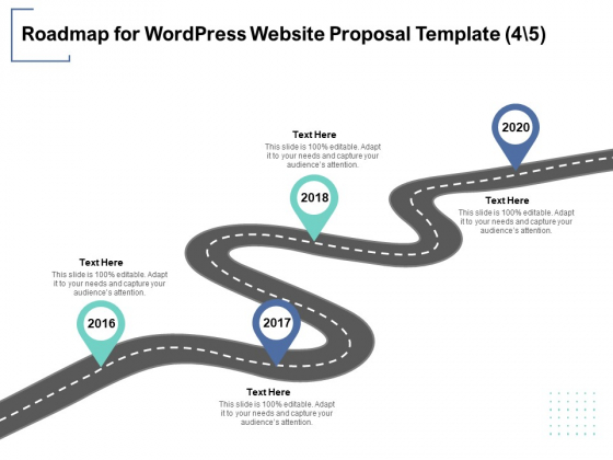 Roadmap For Wordpress Website Proposal Template 4 5 Ppt PowerPoint Presentation Model Influencers