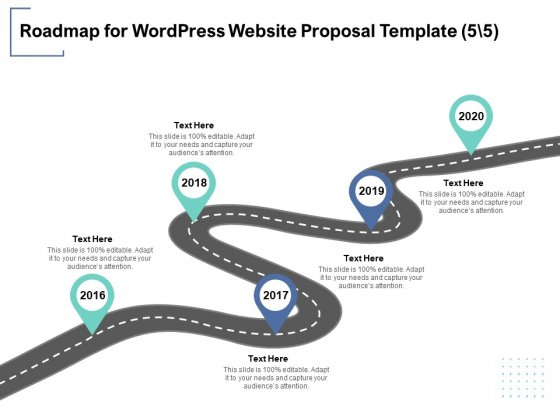 Roadmap For Wordpress Website Proposal Template 5 5 Ppt PowerPoint Presentation Outline Example Introduction