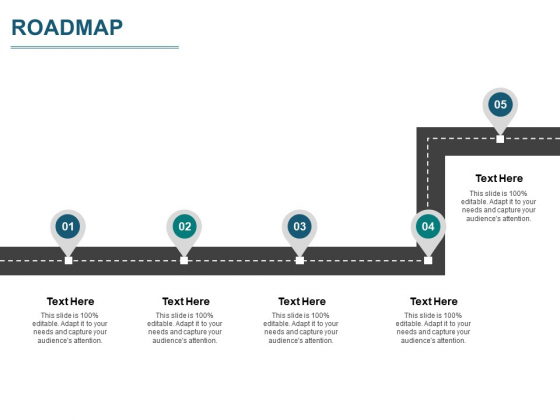 Roadmap Four Process Flow Ppt PowerPoint Presentation Model File Formats