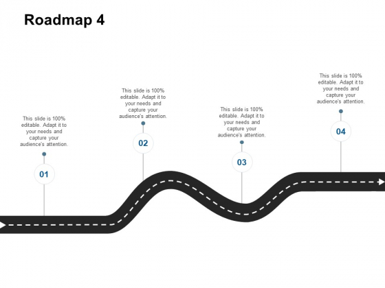Roadmap Four Stage Ppt Powerpoint Presentation Icon Inspiration