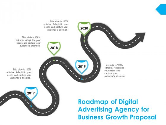 Roadmap Of Digital Advertising Agency For Business Growth Proposal Ppt PowerPoint Presentation Outline Aids