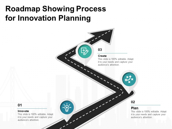 Roadmap Showing Process For Innovation Planning Ppt PowerPoint Presentation Pictures Influencers PDF