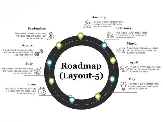 Roadmap Template 5 Ppt PowerPoint Presentation File Example File