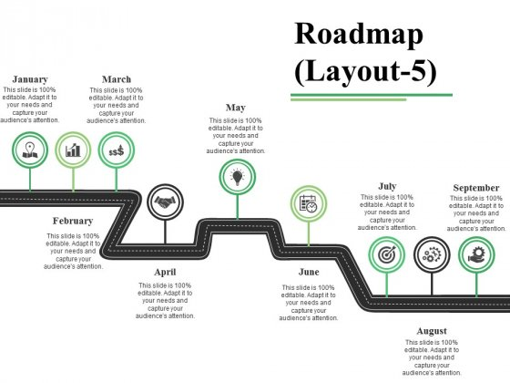 Roadmap Template 5 Ppt PowerPoint Presentation File Samples