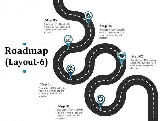 Roadmap Template 6 Ppt PowerPoint Presentation Model File Formats