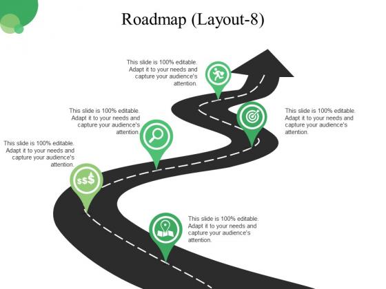 Roadmap Template 8 Ppt PowerPoint Presentation Portfolio Skills
