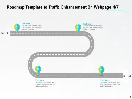 Roadmap Template To Traffic Enhancement On Webpage Four Process Ppt PowerPoint Presentation Inspiration Outfit PDF